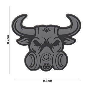 PATCH 3D PVC : GASSMASK BULL , GRIS