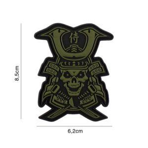 PATCH 3D PVC : SAMURAI SKULL, VERT