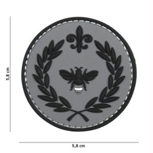 PATCH 3D PVC NAPOLEON BEE GRIS