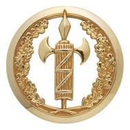 Insigne de béret doré Justice Militaire