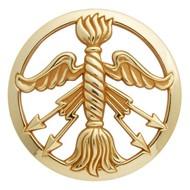 Insigne de béret doré Service des Poudres