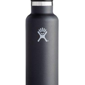 Hydro flask 21oz (621ml) Noir avec bouchon sport