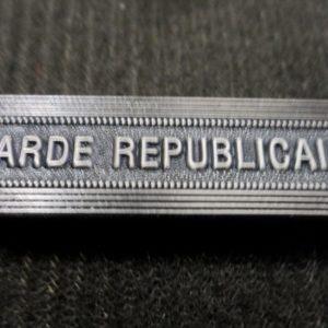 Agrafe pour médaille Ordonnance GARDE REPUBLICAINE