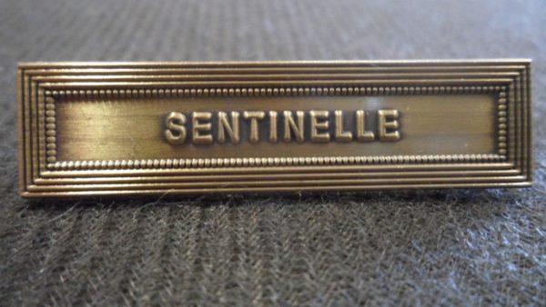 Agrafe SENTINELLE sur la médaille de la protection militaire du territoire MPMT