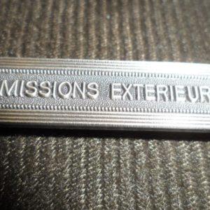 Agrafe pour médaille Ordonnance MISSIONS EXTERIEURES