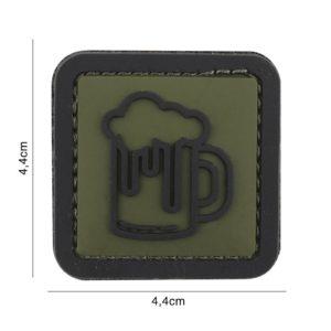 PATCH 3D PVC : BEER, VERT