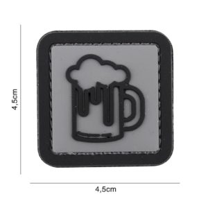 PATCH 3D PVC : BEER, GRIS