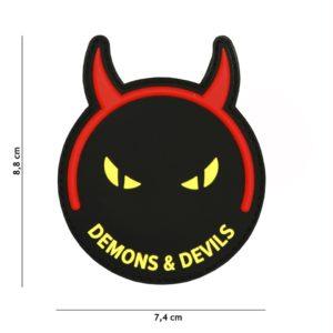 PATCH 3D PVC : DEMONS & DEVILS, NOIR/JAUNE