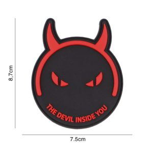 PATCH 3D PVC : DEMONS & DEVILS, NOIR/ROUGE
