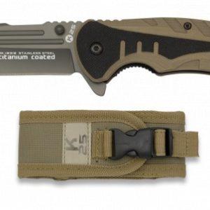 Couteau pliant K25 G10. Coyote. Clip. Lame 8.7 cm K 25 18318