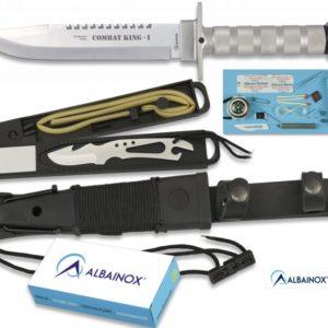 Couteau ALBAINOX SUPERVIVENCIA. Avec étui. 20 cm 31771
