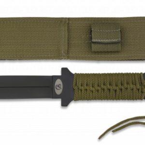 Couteau vert Albainox encordé. Lame 15 cm 32428