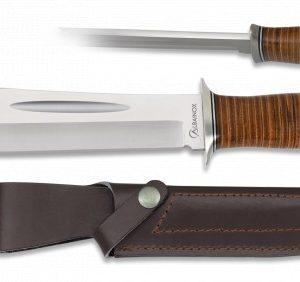 Couteau Albainox. Étu en cuir. Lame 20.5 cm 32427