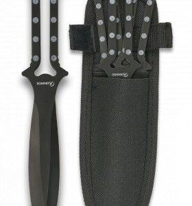 Set 3 couteaux à lancer Albainox. Étui 32135