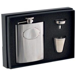 COFFRET FLASQUE INOX 150ML + ACCESSOIRES