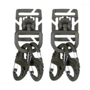 mousqueton duraflex type S-biner kaki lot de deux paires